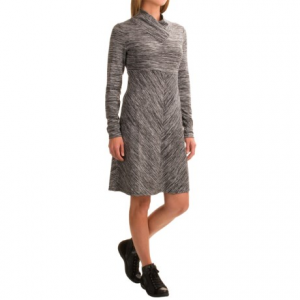 aventura clothing maeve space-dye dress - long sleeve (for women)- Save 47% Off - CLOSEOUTS . Cozy up and step out on chilly nights in Aventura Clothingand#39;s Maeve space-dye dress! A soft, stretchy blend of space-dyed fabrics stands out in any crowd, and a slouchy shawl collar adds a jolt of casual style. Available Colors: BLACK, WALNUT, BURNT RUSSET. Sizes: XS, S, M, L, XL, 2XL.