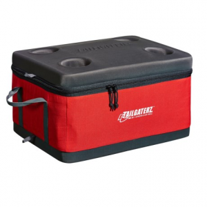 tailgaterz collapsible cooler- Save 28% Off - CLOSEOUTS . Tailgaterz Collapsible cooler is a great cooler option for small spaces and tailgating. The molded top and bottom give it structure, and the waterproof liner is removable for easy cleaning. Available Colors: RED.