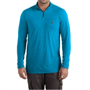 Image of Carhartt Force Extremes Shirt - Zip Neck, Long Sleeve, Factory Seconds (For Big and Tall Men)