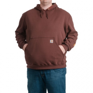 Image of Carhartt Block Graphic Logo Hoodie - Factory Seconds (For Big and Tall Men)