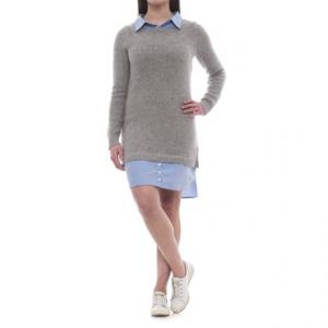 Image of Artisan NY Crew Neck Sweater Sheath Dress - Long Sleeve (For Women)
