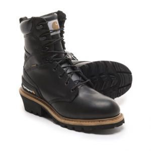 Image of Carhartt Logger Work Boots - Waterproof, 8? (For Men)