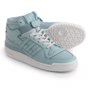 Image of adidas Originals Forum Mid Refined Shoes - Leather (For Men)