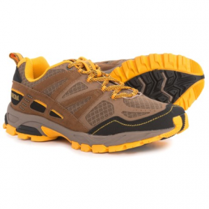 pacific trail tioga trail running shoes (for men)- Save 50% Off - CLOSEOUTS . Ideal for rolling trails and general off-road use, Pacific Trail Tioga trail running shoes have an abrasion-resistant toe cap, a well-cushioned midsole and a flexible design. Available Colors: TAUPE/GOLD, GRAPHITE/BLACK/OLIVE, 03, LIGHT GREY/BLACK/YELLOW, BLACK/BLUE. Sizes: 7, 7.5, 8, 8.5, 9, 9.5, 10, 10.5, 11, 11.5, 12, 13, 6, 6.5.