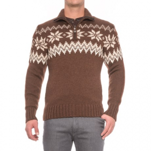 Image of Dale of Norway Myking Masculine Sweater - Merino Wool, Zip Neck (For Men)