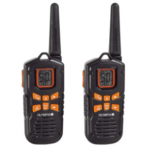 olympia r500 two-way radios - 2-pack- Save 20% Off - CLOSEOUTS . Stay in contact with base camp or your hunting partner with these Olympia R500 two-way radios. The compact design includes 50 channels with 121 eliminator codes to reduce noise interference and a range of up to 42 miles. Available Colors: BLACK.