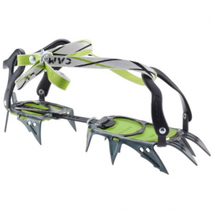 c.a.m.p. c12 universal crampons- Save 39% Off - CLOSEOUTS . C.A.M.P. C12 Universal crampons are suitable for general mountaineering and alpine climbing, and feature bindings that are compatible with most boots. They boast strong chromoly steel spikes with slightly flared points to reduce balling. Available Colors: TITANIUM/GREEN.
