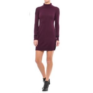 Image of Artisan NY Contrast Detail Shift Dress - Long Sleeve (For Women)