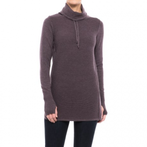 Image of Artisan NY Cowl Neck Ribbed Tunic Sweater (For Women)