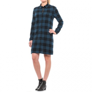 Image of Beach Lunch Lounge Carly Flannel Shirt Dress - Long Sleeve (For Women)