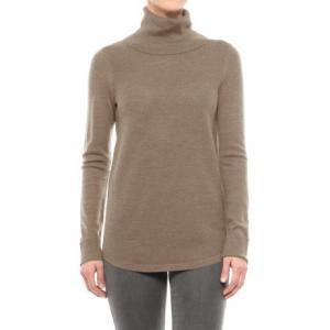 Image of Adrienne Vittadini Merino Wool Cashfeel Turtleneck Sweater (For Women)