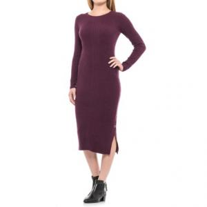 Image of Artisan NY Side Snap Sheath Dress - Long Sleeve (For Women)