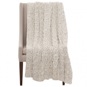 Image of Artisan Speckled Cable-Knit Throw Blanket - 50x60?