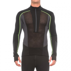 Image of Helly Hansen Warm Flow Ullr Base Layer Top - Zip Neck, Long Sleeve (For Men)