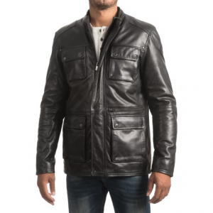 Image of Bod and Christensen Sheepskin Leather Barn Jacket (For Men)