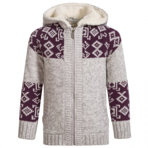 Image of Silver Jeans Hooded Knit Sweater (For Little Girls)