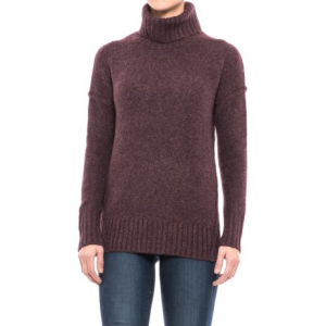 Image of Adrienne Vittadini Recovery Yarn Turtleneck Sweater - Wool Blend (For Women)