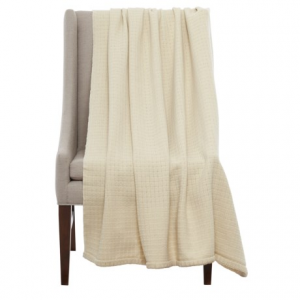 Image of Bambeco Solid Box Weave Wool Throw Blanket - 51x71?