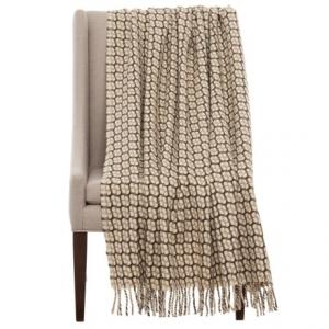 Image of Bambeco Gathering Print Wool Throw Blanket - 51x71?