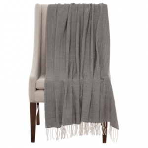 Image of Bambeco Fine Herringbone Wool Throw Blanket - 51x71?