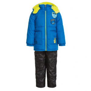 Image of iXtreme Quilted Patch Jacket and Snow Bibs Set - Insulated (For Toddler Boys)