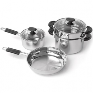 Image of BergHOFF Kasta Stainless Steel Cookware Set - 6-Piece