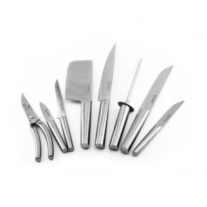 Image of BergHOFF Eclipse Hollow Hand Knife Set with Folding Bag - 9-Piece