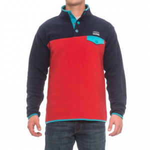 Image of Free Nature Color-Block Fleece Shirt - Snap Neck, Long Sleeve (For Men)