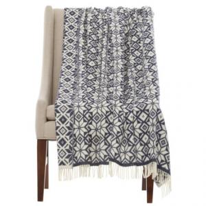 Image of Bronte by Moon Snowflake Throw Blanket - Merino Wool, 55x72?