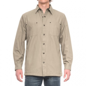 Image of Backpacker Cotton Canvas Shirt Jacket - Fleece Lined (For Men)