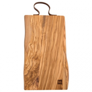 Image of Core Bamboo Rustic Cutting Board with Leather Strap - 16x8?