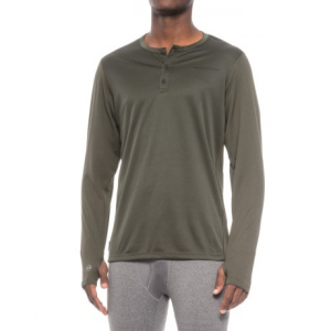 Image of Homeschool Hard Core Days Base Layer Henley Top - Long Sleeve (For Men)