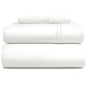 Image of Bambeco Satin Stitch Organic Cotton Sheet Set - Twin, 500 TC