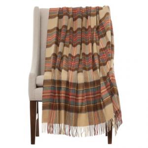 Image of Bronte by Moon Tartan Lambswool Throw Blanket - Merino Wool