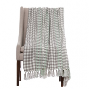 Image of Bella Lux Minty Woven Throw Blanket - 50x60?