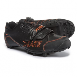 lake cycling mx228 mountain bike shoes - spd (for men)- Save 52% Off - CLOSEOUTS . Lake Cyclingand#39;s MX228 mountain bike shoes are made on the MX Competition last for exceptional performance in the saddle and on foot. A BOAand#174; mounted lacing system lets you quickly dial in for a comfortable fit, and the Lake Race carbon fiber sole offers rigid power transfer with enough give for comfortable on-foot movement. Available Colors: BLACK/ORANGE. Sizes: 39, 40, 41, 41.5, 42, 42.5, 43, 43.5, 44, 44.5, 45, 45.5, 46, 46.5, 47, 48.