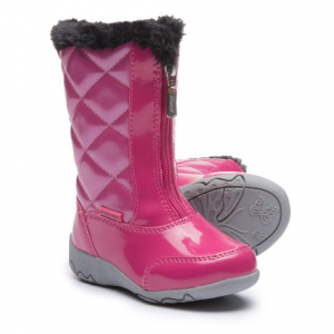 Image of Khombu Dana Winter Boots - Faux Patent Leather (For Toddler Girls)