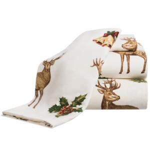 Image of Azores Deer Flannel Sheet Set - Queen