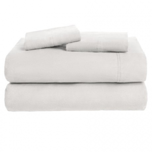 Image of Azores Home Solid Flannel Sheet Set - Queen, Deep Pockets