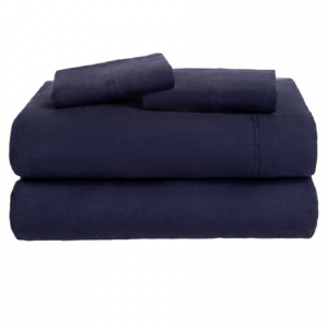 Image of Azores Home Solid Flannel Sheet Set - Full, Deep Pockets