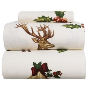 Image of Azores Deer Flannel Sheet Set - Twin