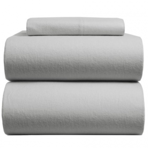 Image of Azores Home Solid Flannel Sheet Set - Twin, Deep Pocket