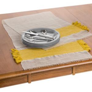 Image of Coyuchi Flowing Fringe Table Runner - 18x60?, Linen-Organic Cotton