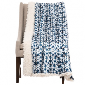 Image of Artistic Accents Lions Fleece Reversible Throw Blanket - 50x60?
