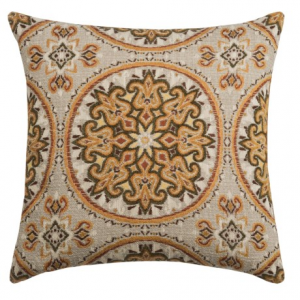 Image of Canaan Akola Chenille Medallion Decorative Pillow - 24x24?, Feather-Down