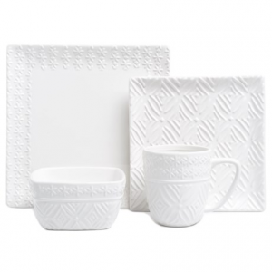 Image of American Atelier Jasmin Textured Stoneware Dinnerware Set - 16-Piece