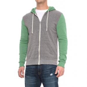 Image of Alternative Apparel Rocky Color-Block Eco-Fleece Hoodie - Zip Front (For Men)