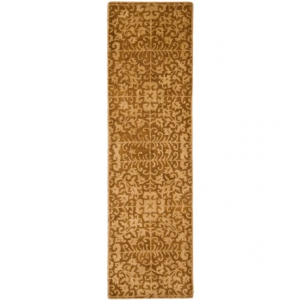 Image of Safavieh Antiquity Collection Gold and Beige Floor Runner - 2?3?x8?, Hand-Tufted Wool