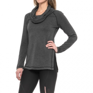 Image of 90 Degree by Reflex Cowl Neck Shirt - Long Sleeve (For Women)