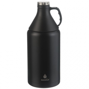 Image of Manna Apex Stainless Steel Insulated Growler - 64 oz., Detachable Cone Cup